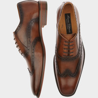 Marco Vittorio Monza Brown Wingtip Lace Up Shoe - Dress Shoes | Men's Wearhouse