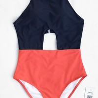 Cupshe Beautiful Sunday Cross One-piece Swimsuit