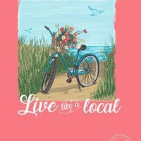 """AG """"Live Like a Local"""" Comfort Color Tee"""