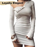 Loyally Elegant One Shoulder Bodycon
