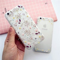 Exquisite fashionable flowers mobile phone case for iphone 6 6s 6plus 6s plus + Nice gift box!