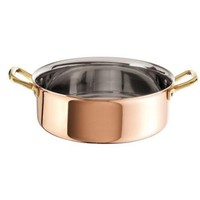 Copper with Stainless Steel Finish Rondeau 9.5 inch