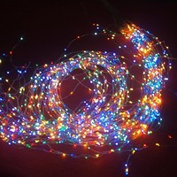 Christmas Holiday Lights Lighting Outdoor Copper Wire with Lamp 2M*19 380 LED Light String for Party Xmas Waterproof