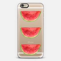 Watermelons Stacked (Transparent) iPhone 6 case by H. Nichols Illustration | Casetify