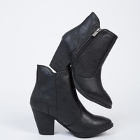Western Chunky Ankle Boots