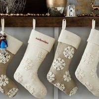 Felt Snowflake Stocking