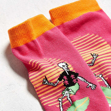 Surf Skeleton Crew Sock - Urban Outfitters