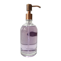 Hand Soap by Aroma Aria | Lavender | Luxurious Decorative Refillable Glass Bottle with Gold Pump | 12 fl.oz.