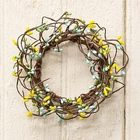 """Spring Mix Pip Berry 6"""" Small Wreath Ring"""