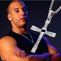 """*FREE SHIPPING* Fast and Furious Movie Dominic Toretto's Cross Necklace (Pendant + 26"""" Chain)"""