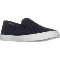 Sperry Top-Sider Seaside Perforated Slip On Fashion Sneakers, Navy, 5.5 US / 35.5 EU