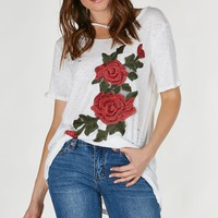 Smell The Roses Patched Tee