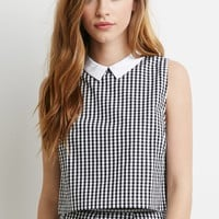 Collared Gingham Crop Top | Forever 21 - 2002247129