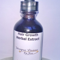 Hair Growth Herbal Extract, 2 fluid ounce, Good for Hair Loss and Growing Hair, Natural Herbs, Unique Visions by Jen