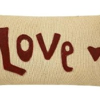 """""""Love Blooms"""" Embroidered Accent and Throw Pillow - Mini"""