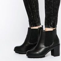New Look Wide Fit Heeled Ankle Boots at asos.com
