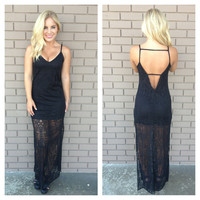 Beat to the Drum Maxi Dress - BLACK