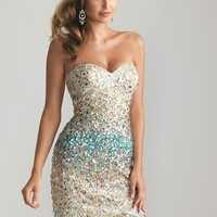 Night Moves 6733 Blue Cocktail Dress