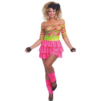 Sexy 80's Party Women's Costume