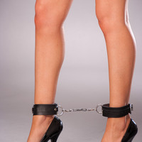Leather Ankle Restraints, Naughty Lingerie Accessories, Leather Accessories