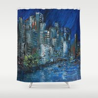 Waterfront Abyss Shower Curtain by RokinRonda | Society6