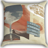 sleeping with sirens lets cheer Zippered Pillows  Covers 16x16, 18x18, 20x20 Inches