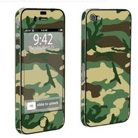 Apple iPhone 4 or 4s Full Body Vinyl Decal Sticker Protection Skin Green Camo By Skinguardz:Amazon:Cell Phones & Accessories
