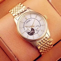 KUYOU R005 Rolex Oyster Perpetual Honorable Gentleman Mens Watch Gold White