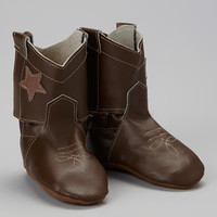 Chocolate Horse Leather Bootie   zulily