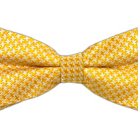 Big Tooth - Yellow/Ivory (Bow Ties) from TheTieBar.com - Wear Your Good Tie Everyday