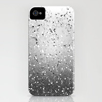 iPhone 4 Case - Black and White Mosaic - Graph Drawing - unique iPhone case, art iPhone case, hipster iphone case, iphone 4 case