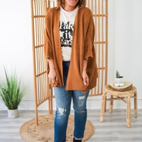 This Is Me Cardigan - Dark Camel