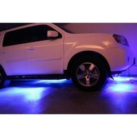 """LED Under Car Glow Underbody System Neon Lights Kit 48"""" x 2 & 36"""" x 2 with Wireless Keychain Remote Controller"""