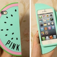 ONG 3D Watermelon case for Iphone 5 5s(Mint )