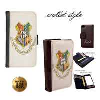 Witchcraft and Wizardry School Hogwarts crest Harry Potter inspired phone case for iphone 4 4s 5 5s 5c 6 plus Galaxy S3 S4 S5