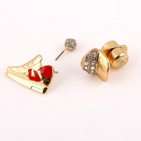 Sporty Chick Post & Magnetic Earrings - Red or Black