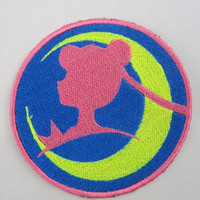 Sailor of the Moon Profile Machine embroidered Iron on or Sew on Patch