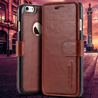 6S Plus Capa Ultra Thin Genuine Leather Stand Case For Apple iphone6 6S For iphone 6 6S Plus Magnetic Full Protected Phone Cover