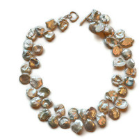 Keshi Pearl Necklace by Gewgaws & Gimcracks on Etsy