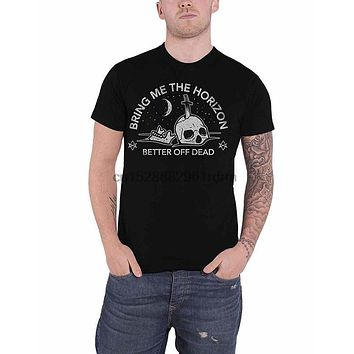 Clothing Bring Me The Horizon T Shirt Better Off Dead Band Logo Official Mens Black 7525|T-Shirts