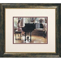 Hadley House 1601183 The Music Room by Steve Hanks: 14 x 16 Framed Open Edition Lithograph Art Print