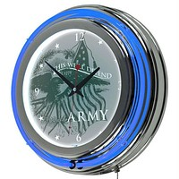 U.S Army This We'll Defend Neon Clock - 14 inch Diameter