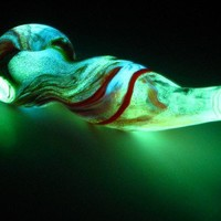 Glowing Glass Pipe A17   thegoodtimesglass - Accessories on ArtFire