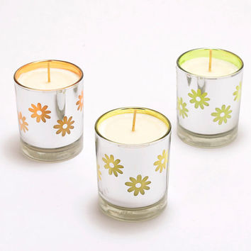 Flower Container Candle Unique Soy Candle Mirror Finish Glass Container Spring Candle Soy Wax Candle Hand Poured Soy Candle Summer Candle
