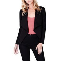 Open Front Long Sleeve Tuxedo Blazer Jacket (CLEARANCE)