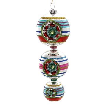 Shiny Brite Cc Three Tiered Ball Drop Ornament Reflector - 4027623