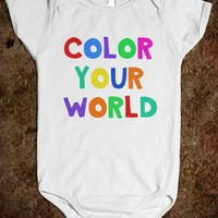 COLOR YOUR WORLD - Underline Designs - Skreened T-shirts, Organic Shirts, Hoodies, Kids Tees, Baby One-Pieces and Tote Bags