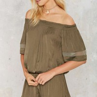 Following the River Off-the-Shoulder Romper