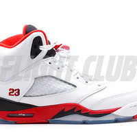 "air jordan 5 retro (gs) ""2013 release"" - white/fire red-black 