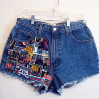 Star Wars High  Waisted Shorts 30 inches
